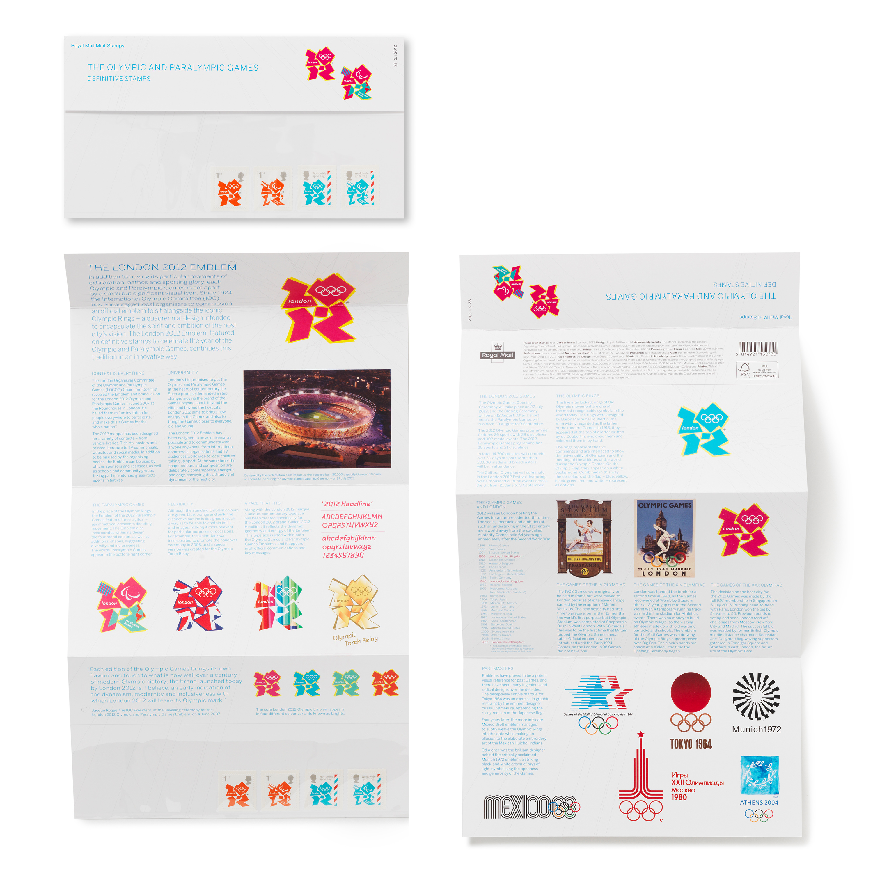 Royal Mail Olympic Definitive Stamps Pack By Neon