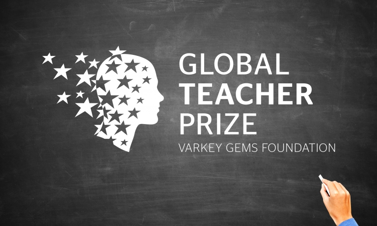 """By Dana Robertson Creative Director and Founder of Neon. The Global Teacher Prize brand mark on blackboard. Launching the """"Nobel Prize"""" of teaching… The Varkey GEMS Foundation is a global charity devoted to providing access to education around the world. With the backing of major international public figures (including the two Bills - Clinton and Gates), they were planning to launch an annual award for the world's best teacher The Global Teacher Award - with a prize of $1 million for the winner. Our job, in collaboration with the strategic consultancy BrandCap, was to come up with a powerful identity for the Global Teacher Prize. And we didn't hesitate for a moment about taking as our creative starting-point the way that truly inspiring teachers create a sense of wonder in young minds. Seeing stars… But how we could capture that in a simple, user-friendly mark? Kaboom! An image came to us a in a shower of kinetic stardust; beautiful, highly emotive, and also just a tad ambiguous. Because whose head is it: the teacher's (giving off radiant energy), or the child's (being illuminated by it)? We used gold to create a sense of prestige, and for added texture; but the mark isn't reliant upon it (and come on, who didn't get a thrill when you earnt a gold star from teacher!). The graphic power of the image works equally well in black and a white, on an old-school chalkboard. And a simple but highly effective YouTube video, supported by an extensive social campaign, ensured that the """"Nobel Prize for teaching"""" - as it soon became known - achieved a very high profile, very quickly indeed. At the time of writing, the Prize has just been awarded for the first time - to Nancie Atwell, an English teacher from Maine in the USA, who intends to donate the $1 million she won to the school that she founded. Now that's pretty inspiring, isn't it?. Idea, art direction and design by Neon Design & Branding Consultancy www.neon-creative.com"""