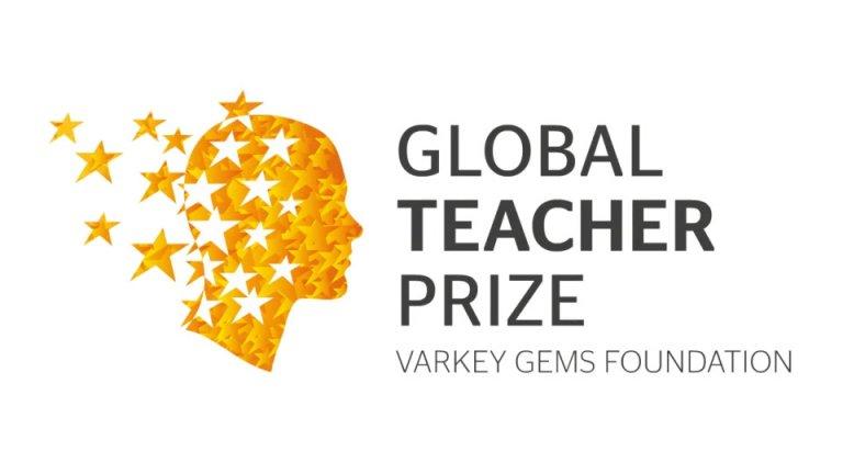 The Global Teacher Award brand mark designed by Neon
