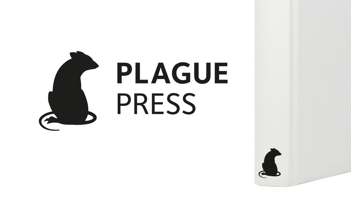 Neon Journal Plague Press logo and colophon by Neon, Branding & Design Consultancy www.neon-creative.com