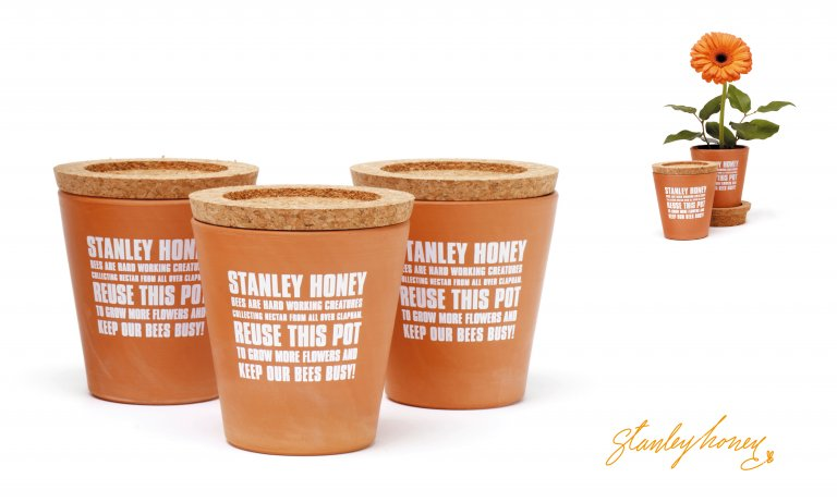 Stanley Honey packaging by Dana Robertson featured in A Smile In The Mind
