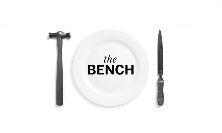 The Bench logo by Dana Robertson featured in A Smile In The Mind