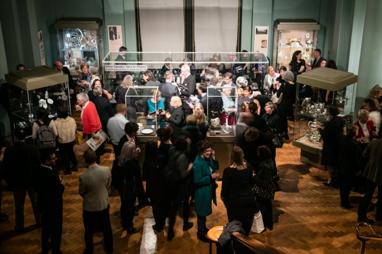 Silver Speaks exhibition at the V&A branding by Neon