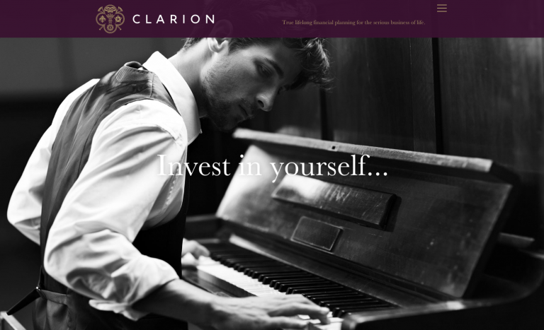 Clarion website Invest in yourself by Neon