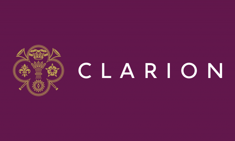 Clarion logo designed by Neon
