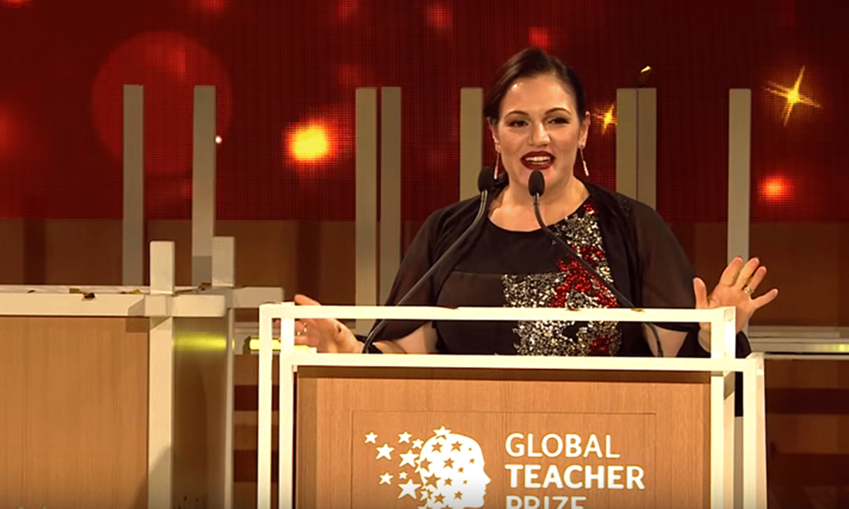 Andria Zafirakou from Alperton Community School in the UK won the 2018 Global Teacher Prize mage-credit-The-Varkey-Foundation